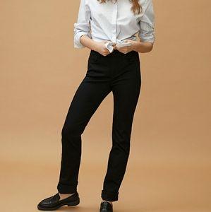 Mavi Jeans Kerry Black Straight Leg Mid Rise Basic